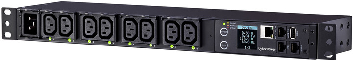CyberPower Rack PDU, Switched & Metered, 1U, 16A
