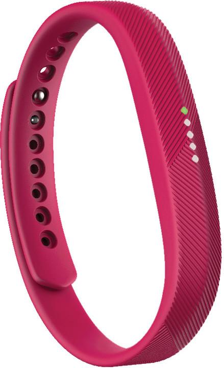 Fitbit Flex 2, růžová/červená