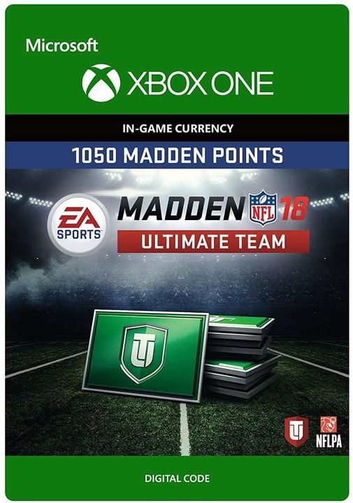 Madden NFL 18 - 1050 MUT Points (Xbox ONE) - elektronicky