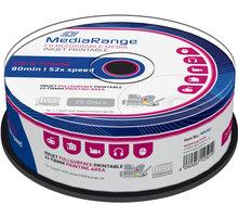 MediaRange CDR 52x 700MB Printable, Spindle, 25ks