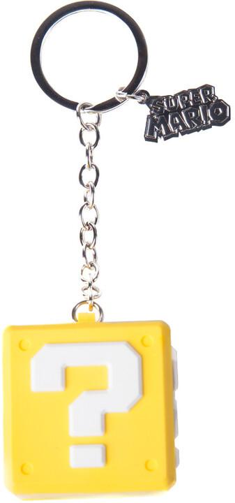 Klíčenka Nintendo - Question Mark Box