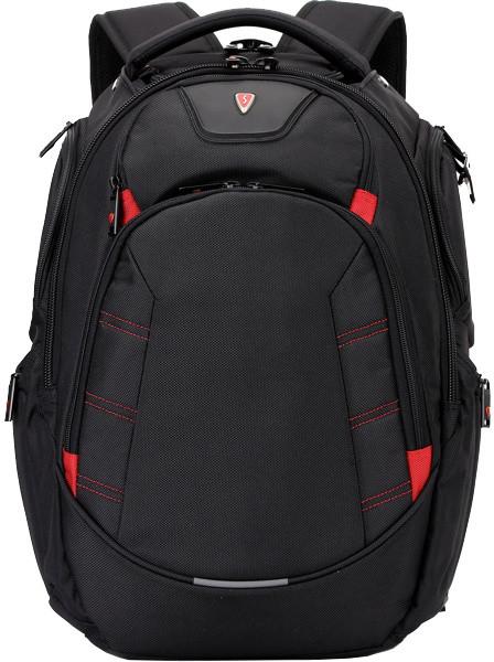 SUMDEX RED(S) batoh pro notebok BP-303BK, černý