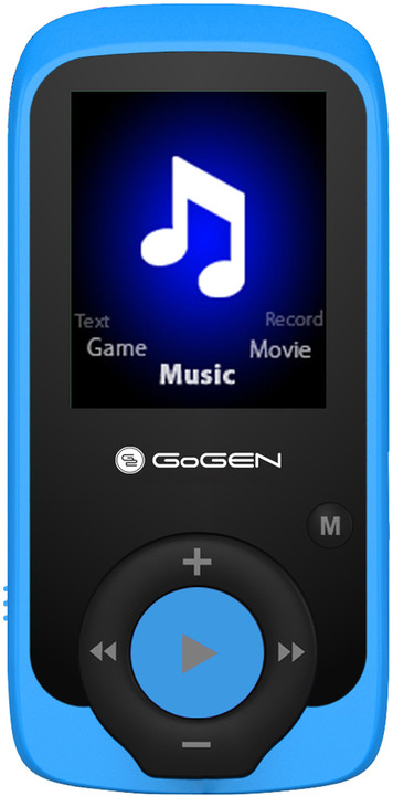 GoGEN MAXI MP3, 4GB, modrá