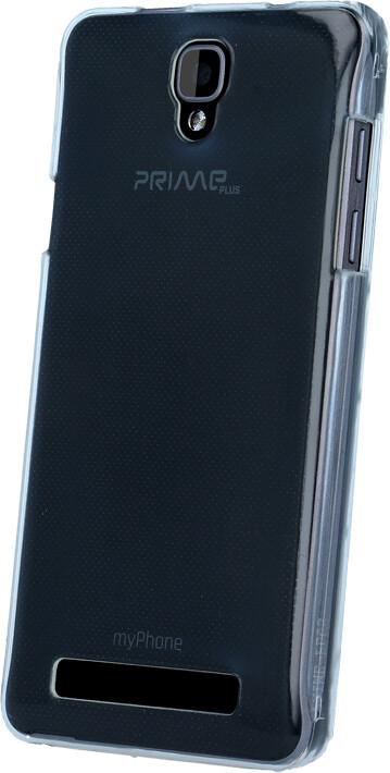 myPhone silikonové pouzdro pro PRIME PLUS, transparentní bílá
