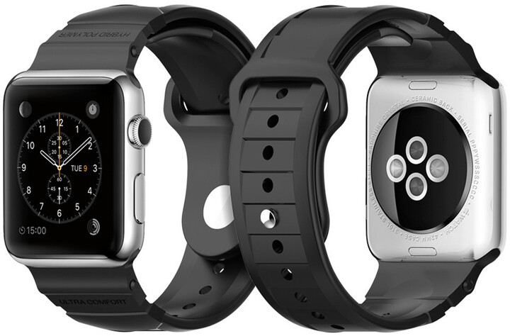 Spigen Rugged Band, black - Apple Watch 42mm
