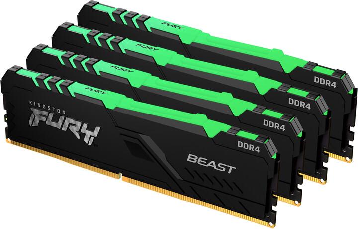 Kingston Fury Beast RGB 128GB (4x32GB) DDR4 3600 CL18