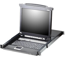 "ATEN CL5716N - 16-portový KVM switch (USB i PS/2), 19"" LCD, US klávesnice - CL5716N-ATA-2XK06A1G"