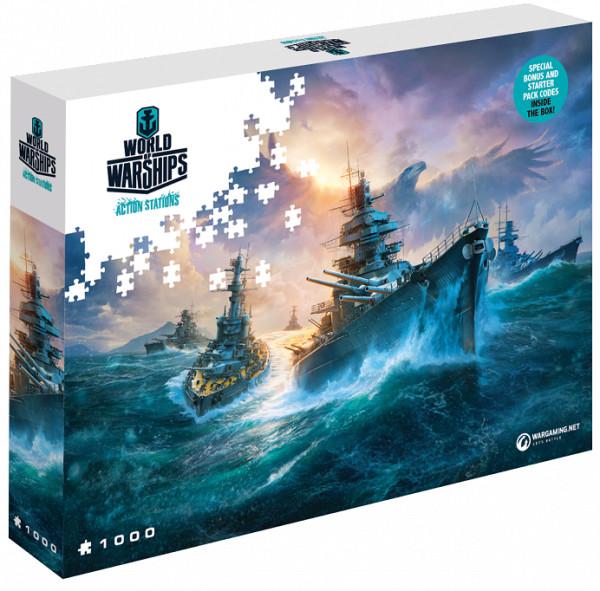 Puzzle World of Warships - Německé bitevní lodě