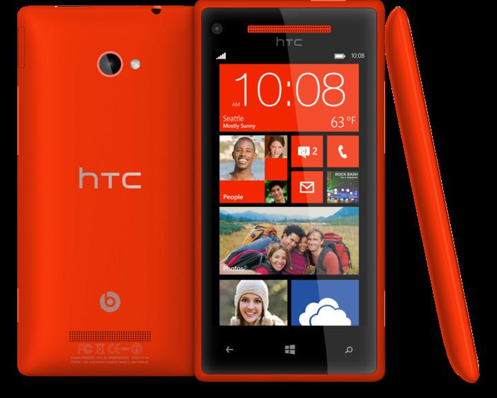 Windows Phone 8X by HTC, červená