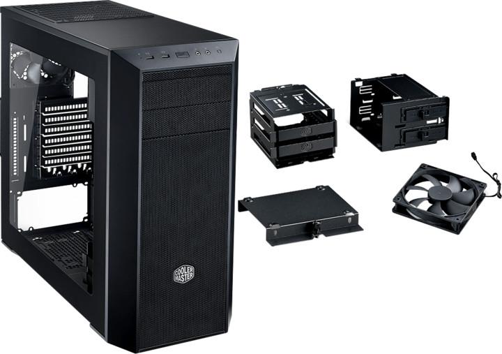 CoolerMaster MasterBox 5 ver. 02, okno, černá