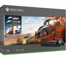 XBOX ONE X, 1TB, černá + Forza Horizon 4 + Forza Motorsport 7  + Tričko Forza Horizon 4, bílé (L) + 300 Kč na Mall.cz