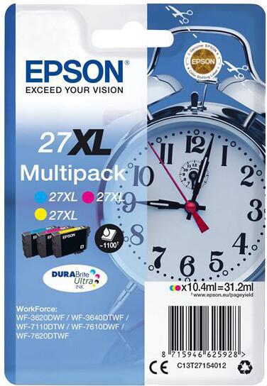 Epson C13T27154012, 27XL Multi-pack C/M/Y