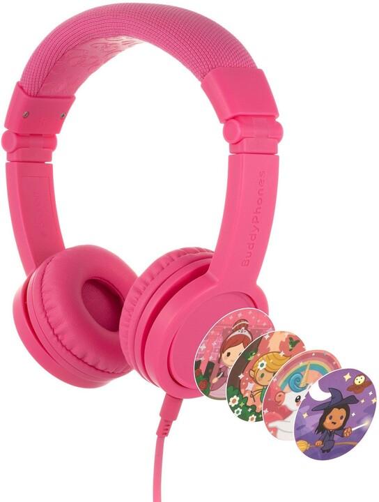 Buddyphones Explore+, růžová