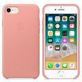 Apple kožený kryt na iPhone 8 / 7, bledě růžová