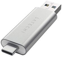 Satechi Aluminum Type-C USB 30, Micro/SD Card Reader, stříbrná  + Nakupte alespoň za 2 000 Kč a získejte 100Kč slevový kód na LEGO (kombinovatelný, max. 1ks/objednávku)