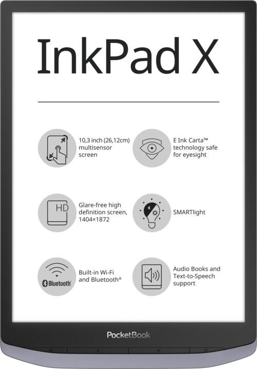 PocketBook InkPad X, Metallic Grey