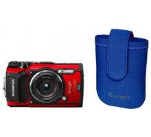Olympus TG-5, červená + neoprene case kit - V104190RE010 + Olympus TOUGH Adventure Pack (v ceně 1 490 Kč)