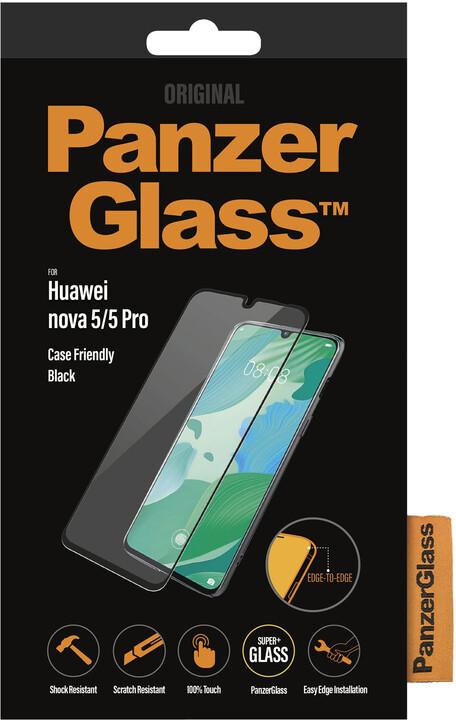 PanzerGlass Edge-to-Edge pro Huawei Nova 5/5 Pro, černá