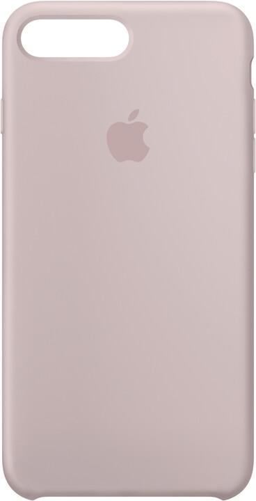 Apple Silikonový kryt na iPhone 7 Plus/8 Plus – pískově růžový