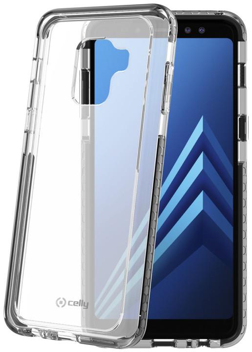 CELLY zadní kryt Hexagon pro Samsung Galaxy A8 (2018), černý