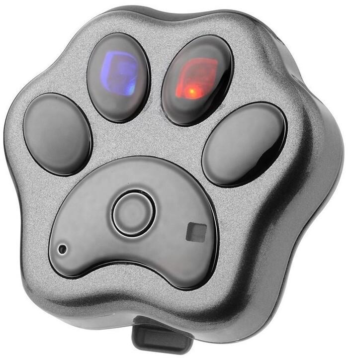 HELMER GPS lokátor LK 604 v obojku pro psy a kočky/ stříbrný