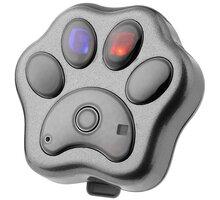 HELMER GPS lokátor LK 604 v obojku pro psy a kočky/ stříbrný - LOKHEL1009