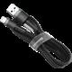Baseus odolný nylonový kabel USB Lightning 2.4A 1M, šedá + černá