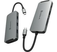 Adam elements Casa Hub A08 USB-C 8-in-1 Multi-Function Hub (3y warranty), šedá - AAPADHUBA08GY