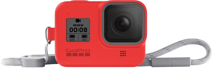 GoPro Sleeve + Lanyard (HERO8 Black) červený
