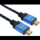 PremiumCord kabel HDMI 2.0b, M/M, 4K@60Hz, opletený, zlacené konektory, 1m, černá