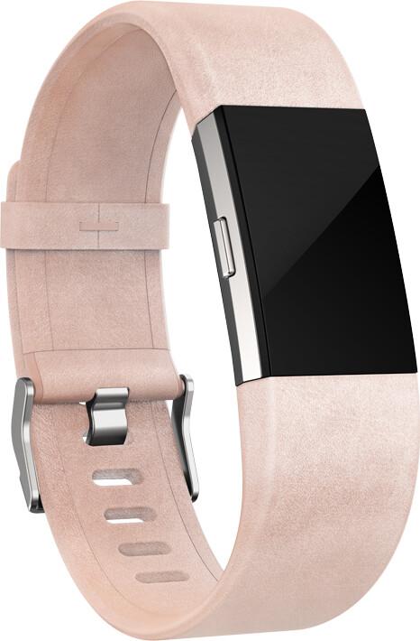 Fitbit Charge 2 Accessory Band kožený S, růžová