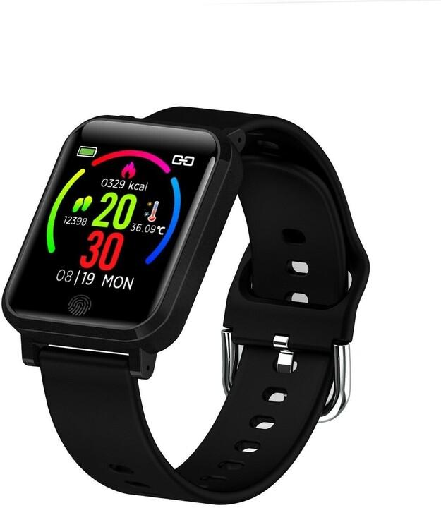 IMMAX chytré hodinky TEMP WATCH, černé