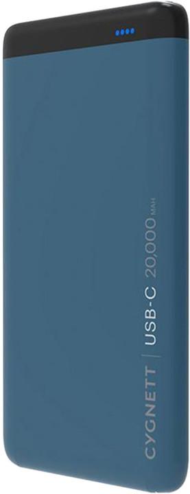 Cygnett 20,000mAh USB-C,PD-48W Power Bank in Teal