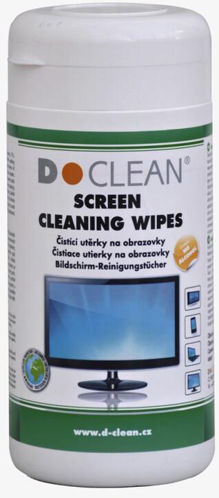 D-Clean čistící utěrky na obrazovky TFT/LCD/Plasma v dóze (100ks)