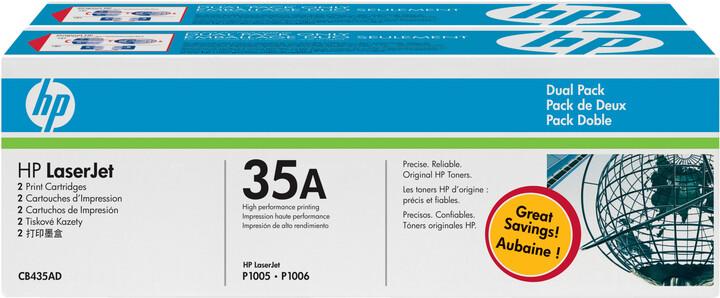 HP CB435AD, černý, dual pack