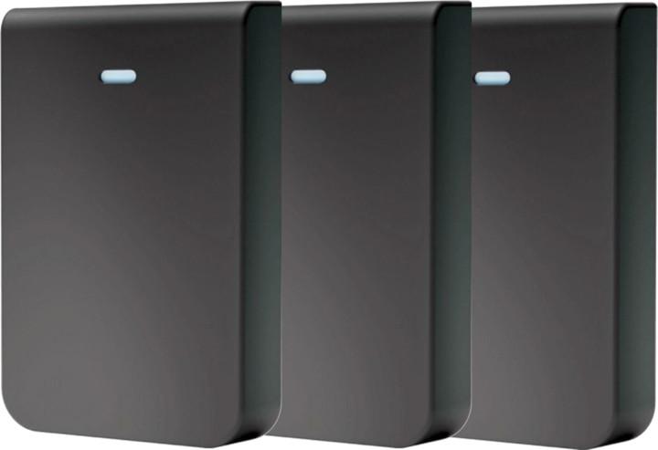 Ubiquiti kryt pro UAP In-Wall HD, černý motiv, 3 kusy