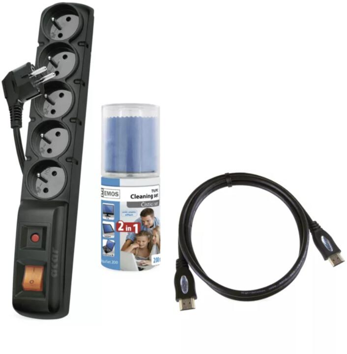 Emos start. kit prodlužovací kabel, čistící prostředek, HDMI kabel