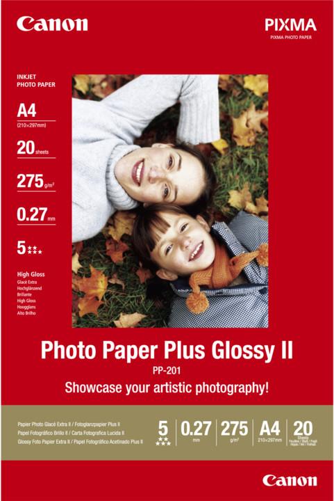 Canon Foto papír Plus Glossy II PP-201, A4, 20 ks, 275g/m2, lesklý