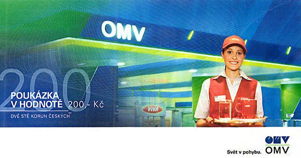 Poukázka OMV (v ceně 200 Kč)