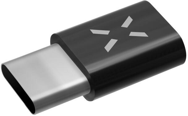 FIXED pro nabíjení a datový přenos z microUSB na USB Type-C 2.0, černá