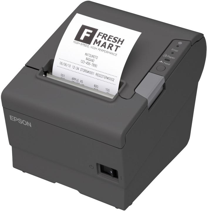 Epson TM-T88V, pokladní tiskárna, BT, iOS, tmavá