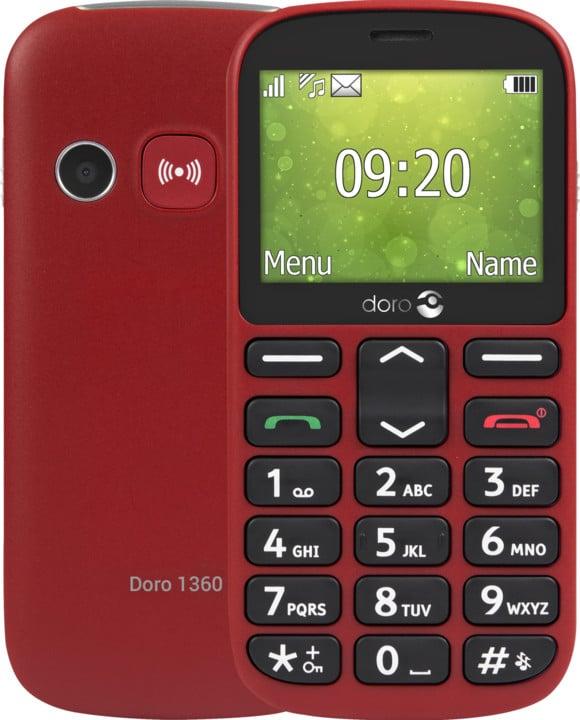 Doro 1360, červená