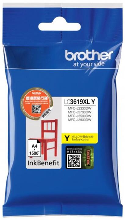 Brother LC3619XLY, žlutý