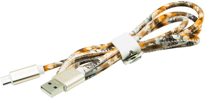 MIZOO USB/micro USB kabel X28-17m, letní květiny