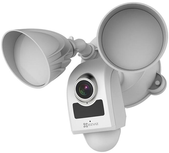 EZVIZ Kamera Floodlight LC1, 2.8mm, FHD, Wi-Fi, PIR, LED osvětlení, SD