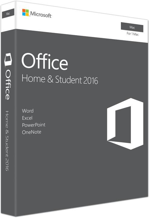 Microsoft Office Mac 2016 CZ pro domácnosti - bez média