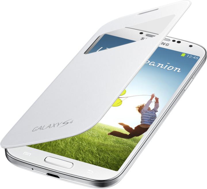 Samsung flip S-view EF-CI950BWEG pro Galaxy S 4, bílá