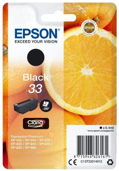 Epson C13T33314012, 33 claria black