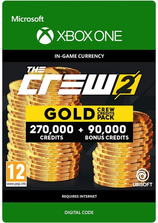 The Crew 2 Gold Crew Credits Pack (Xbox ONE) - elektronicky