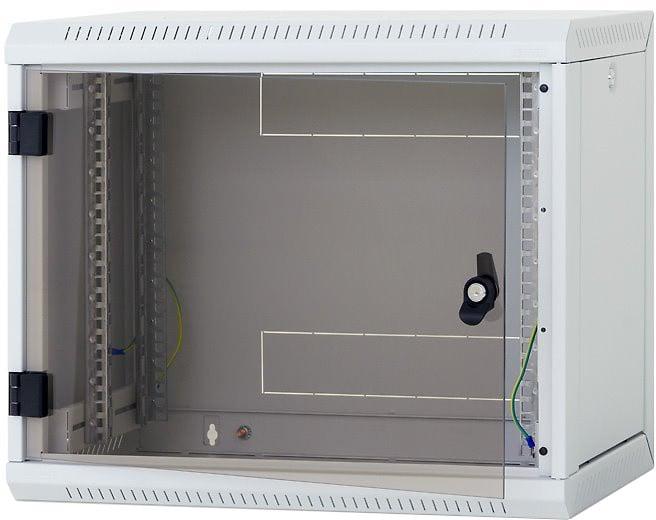 Triton rozvaděč RUA-09-AS6-CAX-A1, nástěnný, 9U, 600x595, skleněné dveře, šedý